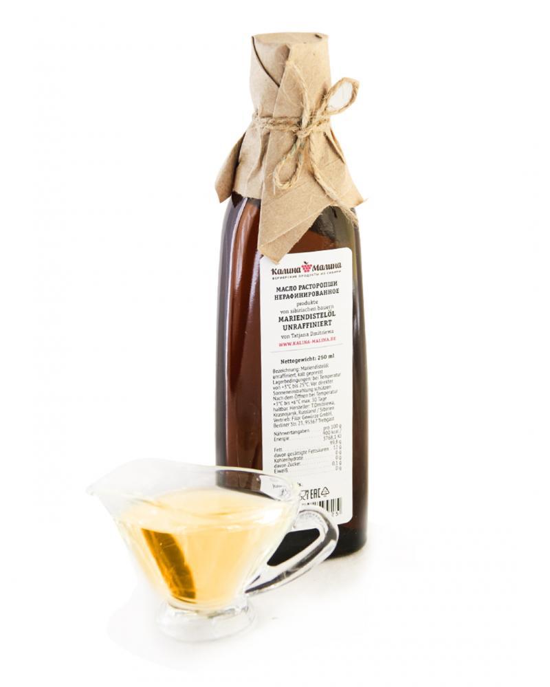 Sibirisches Mariendistelöl kaltgepresst unraffiniert  250 ml