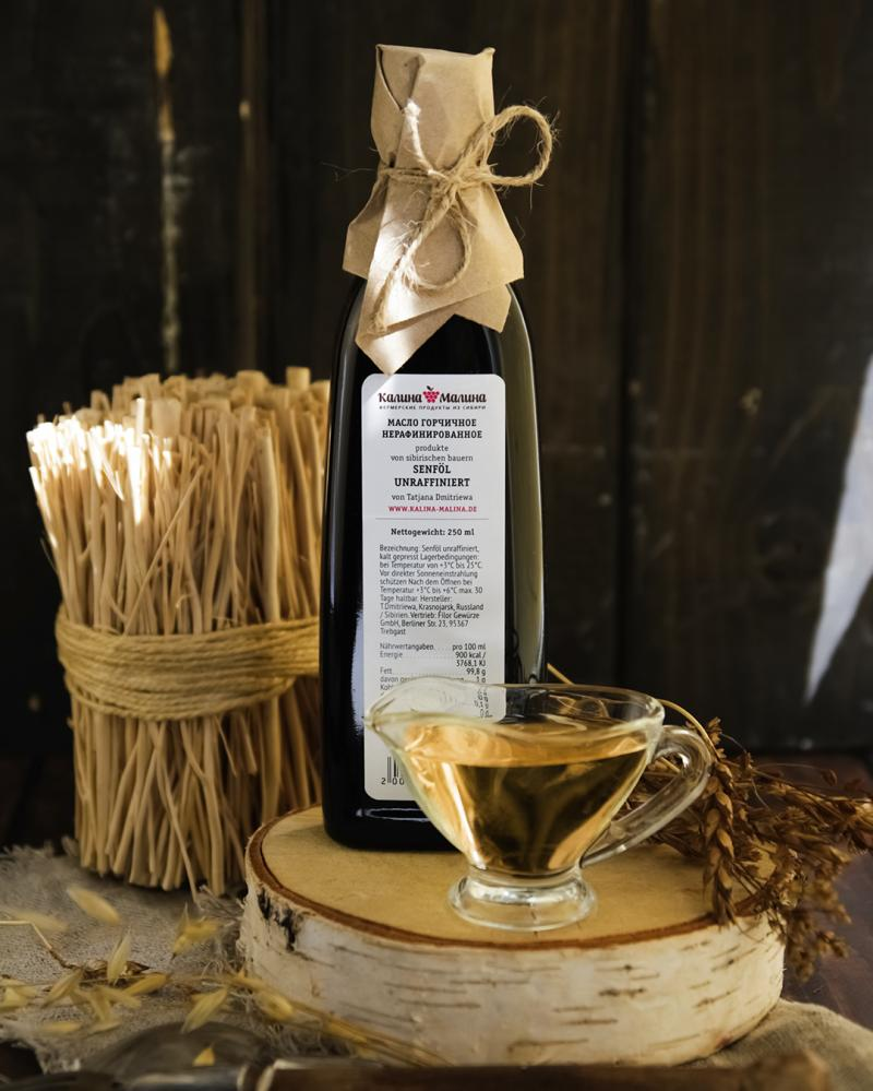Senföl / Горчичное масло  kaltgepresst unraffiniert  250 ml