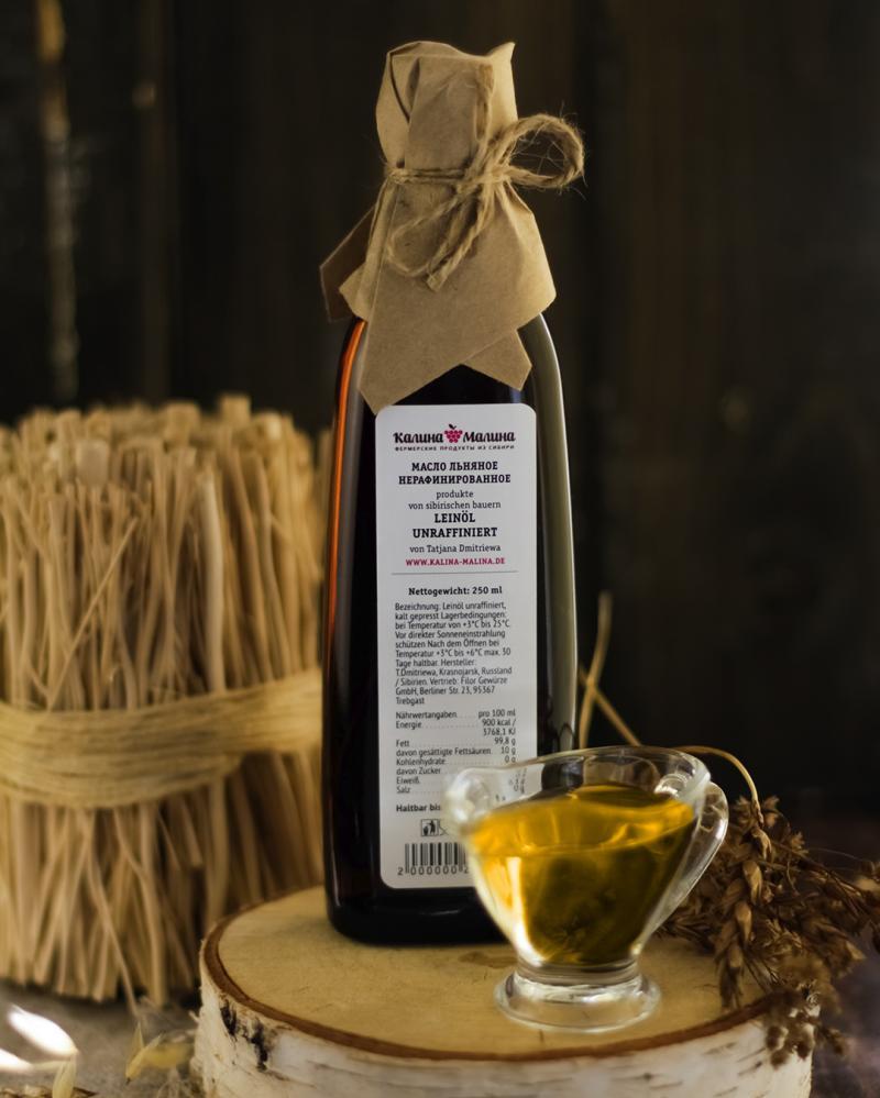 Leinöl / Льняное масло kaltgepresst unraffiniert 250 ml