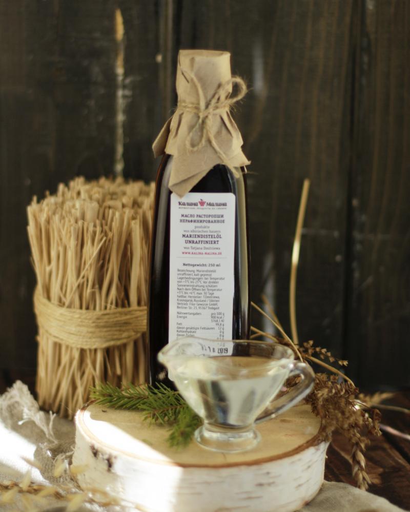 Mariendistelöl / Масло расторопши kaltgepresst unraffiniert  250 ml
