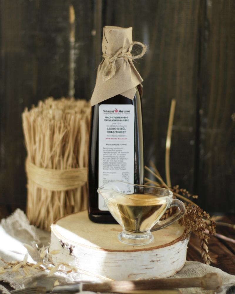 Leindotteröl / Рыжиковое масло kaltgepresst unraffiniert 250 ml